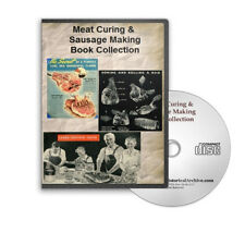 Meat Curing Sausage Salami Making Dehydrating 10 How To Recipe Books on CD B425