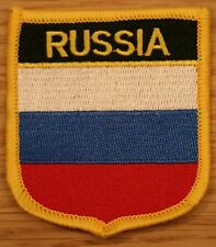 RUSSIA Russian Shield Country Flag Embroidered PATCH Badge P1