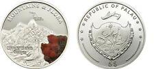 2011 Palau Large  Proof Color Silver $5 Flowers/Mount KENYA