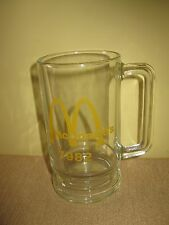 Vintage McDonald's Coffee Cup Mug glass 1982 Golden Arches fast food 16 ounce