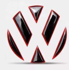 VW Golf 6 7 Polo Silikon 3D Emblem ECKEN DEKOR für Hinten TDI TSI GTI GTD GTE  R
