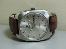 Vintage Favre Leuba Auto Duomatic Swiss Mens Wrist Watch Old Used e620 Antique