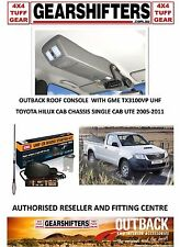 OUTBACK ACCESSORIES ROOF CONSOLES 4X4 4X2 TOYOTA HILUX SINGLE CAB 2005 ON UHF