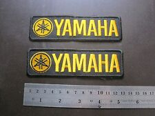 2 X  Yellow YAMAHA Embroidered iron patch sew on applique
