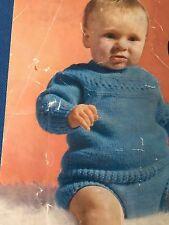 Tejer patrón bebé niño niña conjunto de pantalones de Puente Dk 6 Mths - 2 años De Colección