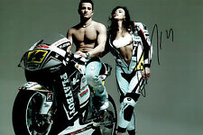 Randy De PUNIET SIGNED Autograph 12x8 with Sexy Model Photo AFTAL COA