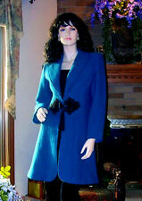 SOFT SURROUNDINGS LUNCH AT THE PLAZA BOILED WOOL COAT /JACKET 2X TEAL $159 Lst1
