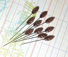 Maya Road Trinket Pins Vintage LEAF BROWN 12p Scrapbook Cards DIY Home Decor