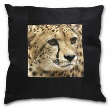 Cheetah Black Border Satin Scatter Cushion Christmas Gift, AT-36-CSB