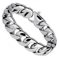 Titanium Punk High Polished Men Bracelet Wristbands Pulseras Exaggerated Bangle