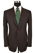 Loro Piana BESPOKE Chocolate Brown Woven Wool Sport Coat Jacket Blazer 42 R