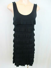 Charlie Brown Black Tiered Dress Size 10