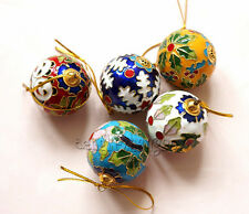 BRAND NEW 10PCS CUTE CHINESE STYLE HANDMADE CLOISONNE BALL CHRISTMAS ORNAMENT