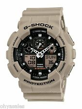 Casio G-Shock Military Grey Beige Analog/Ditigal Sport Wrist Watch - GA100SD-8A