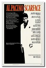 "Hot Sale 24""x36"" Fiber Silk Poster Classic Old Movie Scarface Al Pacino Decals"