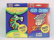 2 Decks Bicycle Kids Playing Cards Games Go Fish & Old Maid Oversize Decks New