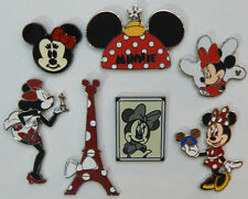 7 MINNIE MOUSE DISNEY TRADING PIN LOT Tradable Lapel Pins mickey disneyland