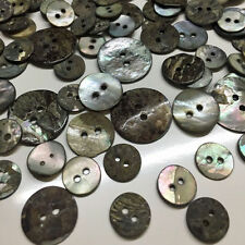 170pcs Assorted Grey Shell Mother of Pearl Buttons Beads Sewing Knitting Crafts
