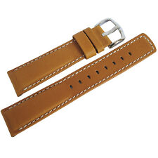 20mm Hirsch Mariner Mens Gold Brown Tan Waterproof Leather Watch Band Strap