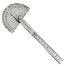 Stainless Steel 180 degree Protractor Angle Finder Arm Measuring Ruler Tools