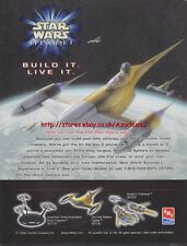 STAR Wars EP1 AMT ERTL modelli 1999 RIVISTA Pubblicità # 3266