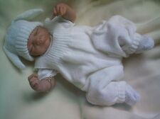 "KNITTING PATTERN ROMPERS BUNNY SET BABY 0-3 MONTHS REBORN DOLL 19-21"" No 34"