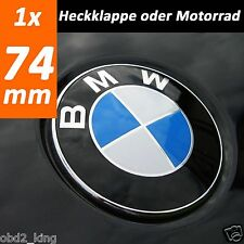 BMW 74mm blue white emblem trunk boot emblem for e46 e60 e61 e39 e91