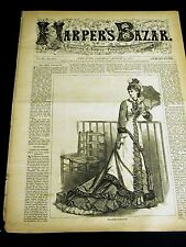 Harper's Bazar 8-11-1877 FASHION School School Children Rosalind As You Like It