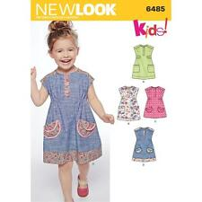 NEW LOOK SEWING PATTERN TODDLERS DRESS SIZE 1/2 TO 4 YRS 6485