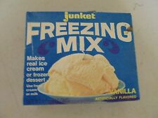 VINTAGE JUNKET FREEZING MIX REAL ICE CREAM VANILLA FLAVORED