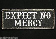 EXPECT NO MERCY USA ARMY BADGE ISAF SWAT VELCRO® BRAND FASTENER MORALE PATCH