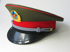 Original Chinese ARMY PLA Type 87 Officer Visor Cap w badge Size 57 58 59