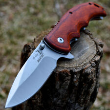 "8"" ELK RIDGE Wood Gentleman SPRING ASSISTED OPEN Hunting Folding POCKET KNIFE"