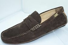 Bally Men's Brown Shoes Wilwood Loafers Size 9.5 Drivers Slip Ons Suede NIB