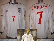 England Beckham XXL Euro 2000 L/S Shirt Jersey Football Soccer Umbro Man Utd