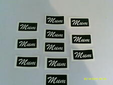 10 x Mum word stencils for etching on glass  craft  hobby  special present