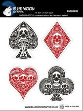 BLUE MOON STICKER MOTORCYCLE SCOOTER CAR HELMTS BOARDS SKULL POKER BMG0030