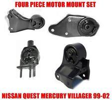 Fits:1999-2002 NISSAN QUEST MERCURY VILLAGER 3.3L MOTOR & TRANS MOUNT 4PCS