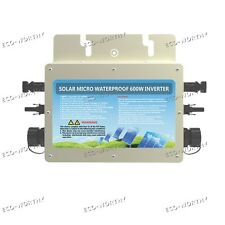 600W 22-50V To 230V Waterproof Grid Tie Inverter MPPT Function for Solar Panel