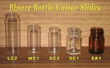 Glass Bottle Guitar Slides - 5 Slide Sampler - Coricidin / Coricedin - New