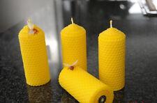 4  Kerzen 100% Bienenwachs Handarbeit Bienenwachskerzen Naturkerzen