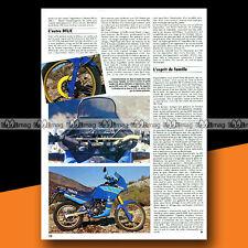 ★ YAMAHA 125 TENERE ★ 1987 Trail Bike / Article de Presse Moto #b295