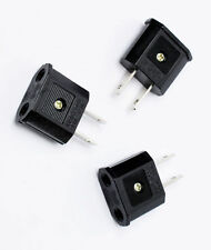 1ea 110V Flat Plug Adapter EU Europe to US Canada 110V-220V Travel KOREA hara