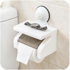 Bathroom Toilet Paper Phone Holder with Shelf household tool Suction Cup UK