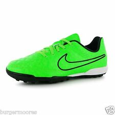 NIKE TIEMPO RIO TF TRAINERS GREEN BLACK ASTRO FOOTBALL BOOT TRAINER SIZE C11 NEW