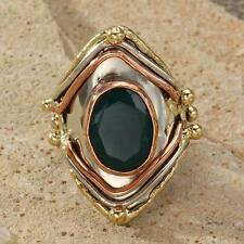 New Tara Mesa Green Onyx Knuckle Ring ~ Size 9 Adjustable