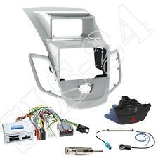 Ford Fiesta JA8 2-DIN Radio Blende silber+Sony Lenkradinterface +Warnblinker SET