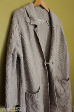 NWT Max Studio Luxury Yarns Alpaca Gorgeous Knit Long Cardigan Sweater L $239