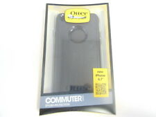 New OEM OtterBox Apple iPhone 6 6S Black Commuter Series Shell Gel Cover Case