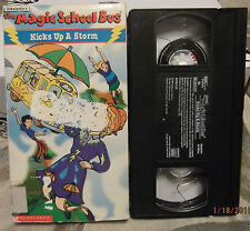 The Magic School Bus Kicks Up A Storm MSB Educational Rare Vhs Video HTF OOP